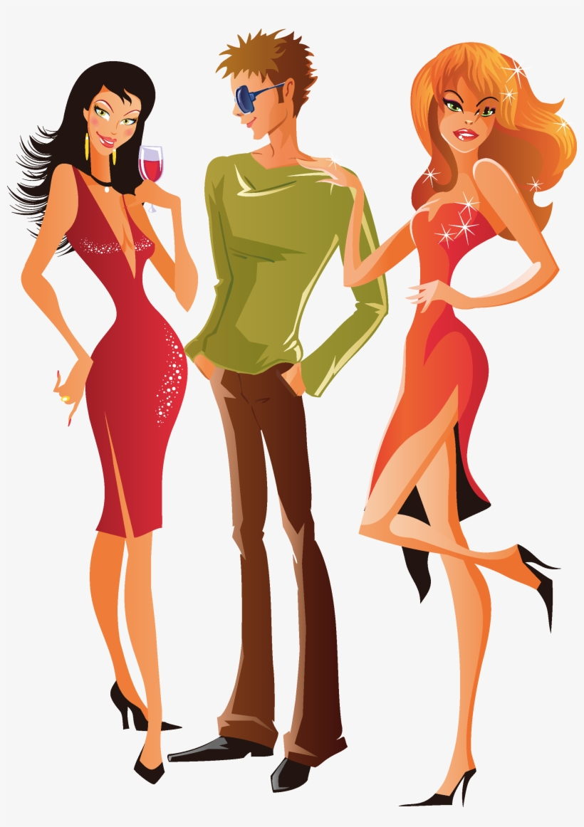 Woman Clip Art - Fashion Man Woman Png, transparent png #2479993