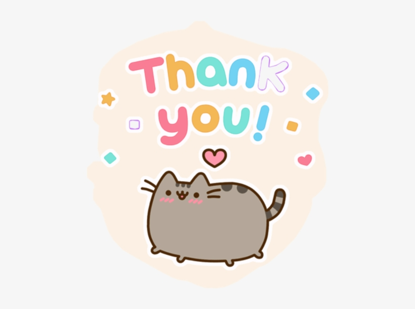 Thank You Sticker Challenge On - Pusheen Saying Thank You Gif, transparent png #2481424