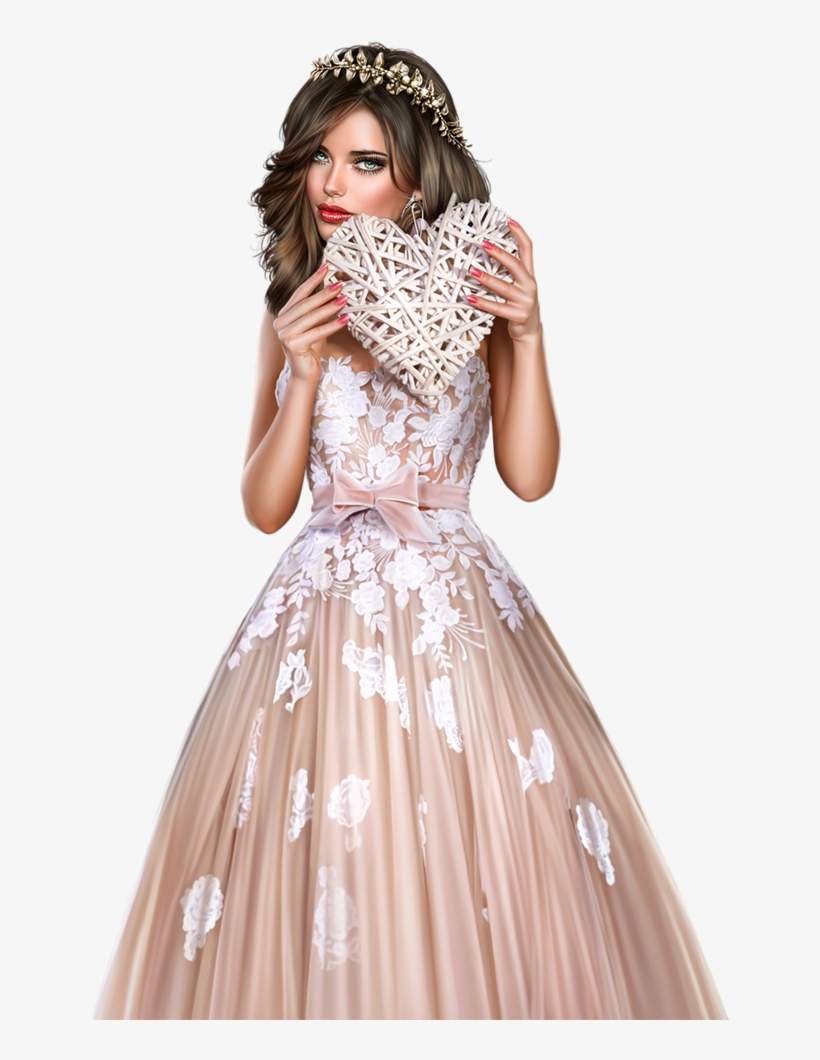 Pin By ~girly❤️girl~ On Femme Valentine's 3d Tubes - Femme Tube Pink Dress Png, transparent png #2485737