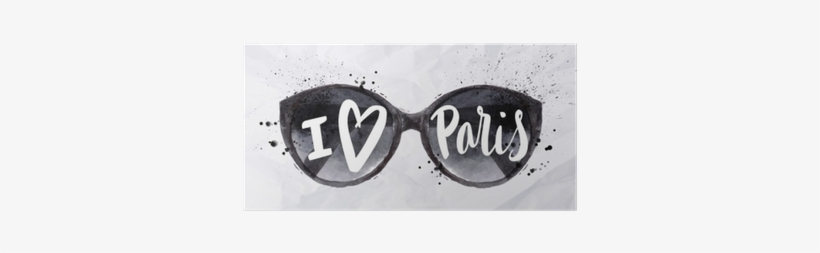 Art Print: Anna42f's Paris Poster Sun Glasses, 61x41cm., transparent png #2486904