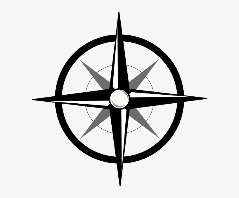 Mata Angin Logo Black And White Compass Rose Clip Art Free