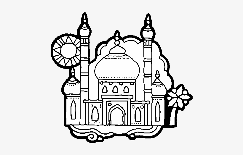 Coloring Page Taj Mahal To Color Online Ancient India Coloring
