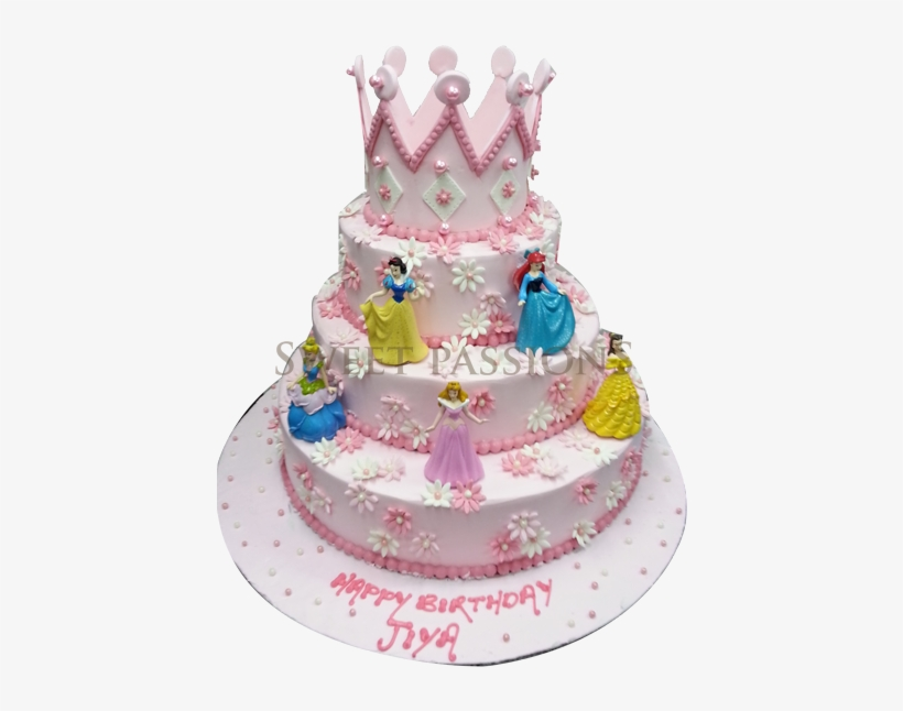 Disney Princess Cake With Crown Only 2 Layers