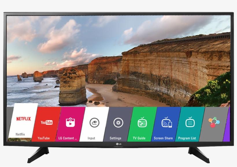 Lg Full Hd Led Display Digital Television Black, 43 - Lg 43 Inch Digital Tv, transparent png #2489597