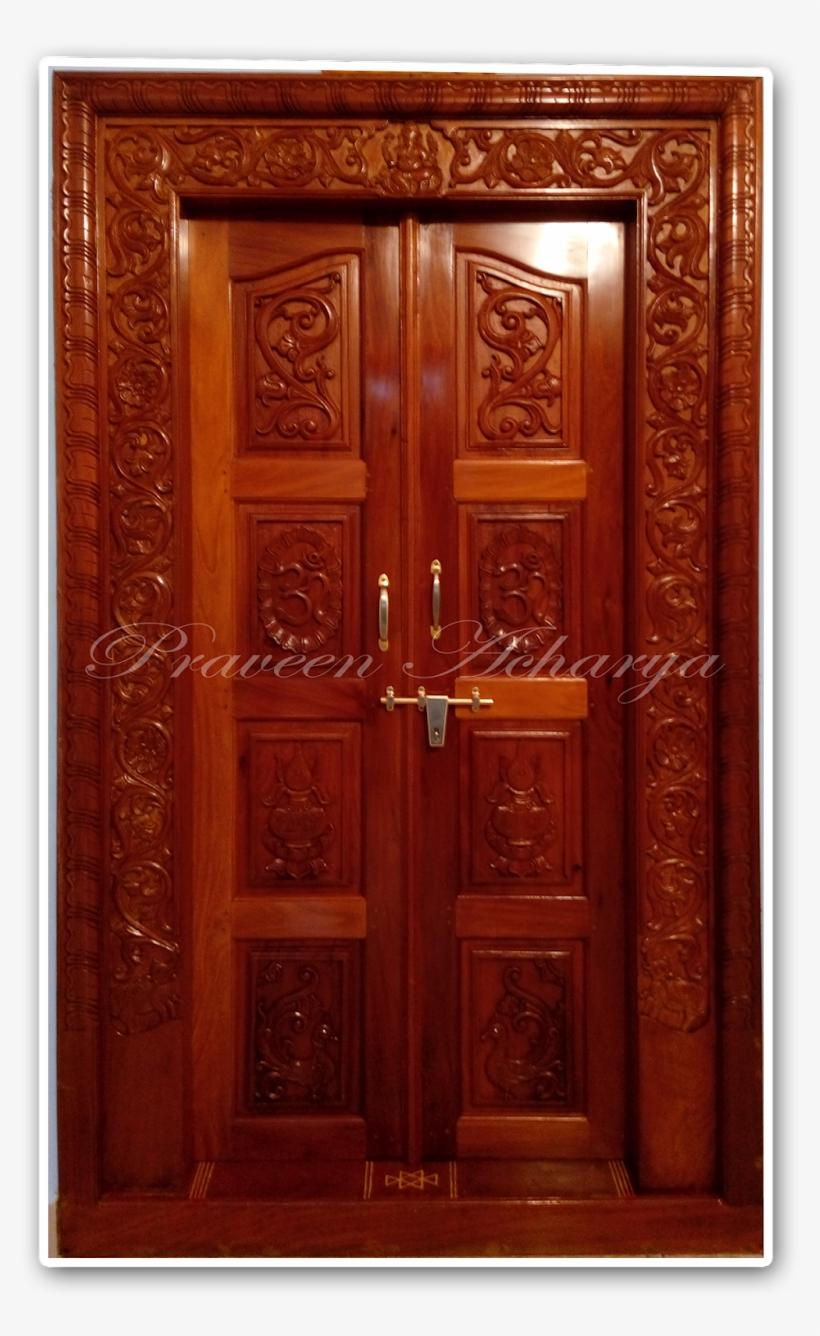 Wooden Polish Work - Home Door, transparent png #2490247