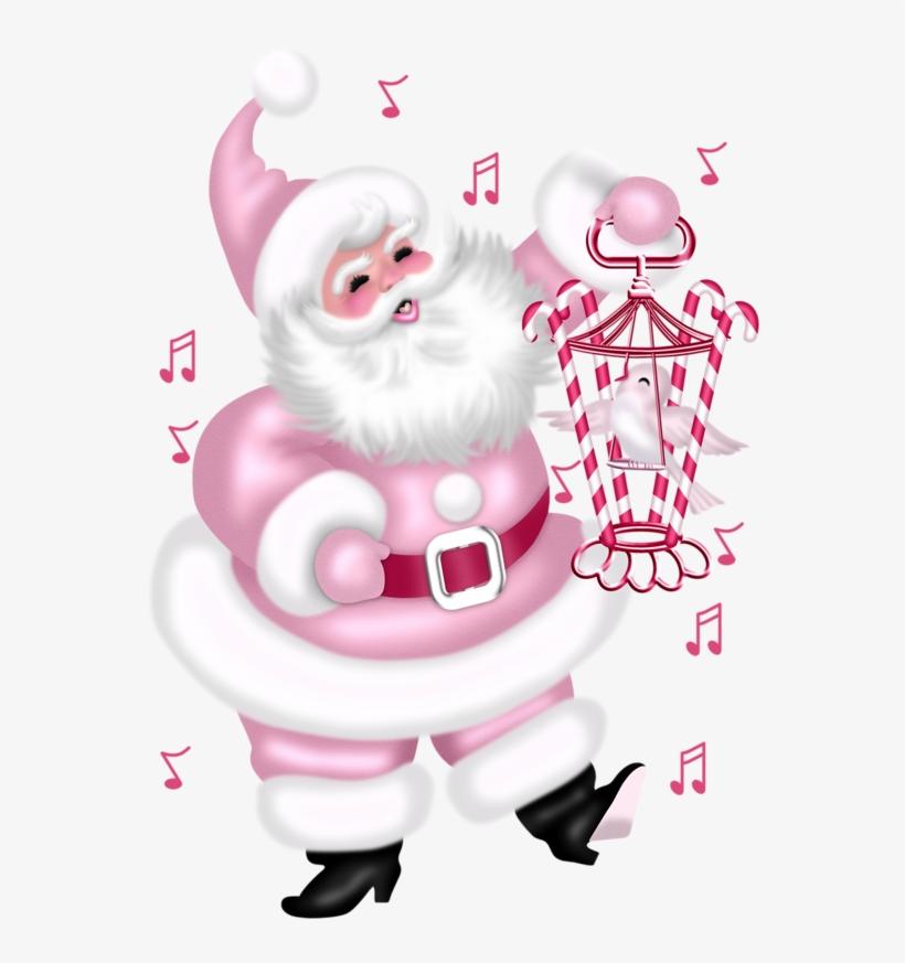 Gifs Tubes De Natal Vintage Pink Christmas, Pink Christmas - Santa Claus Pink Png, transparent png #2490441