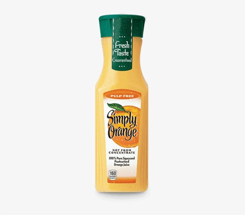 Simply Orange® - Simply Orange Juice, Pulp Free - 11.5 Fl Oz Bottle, transparent png #2493947