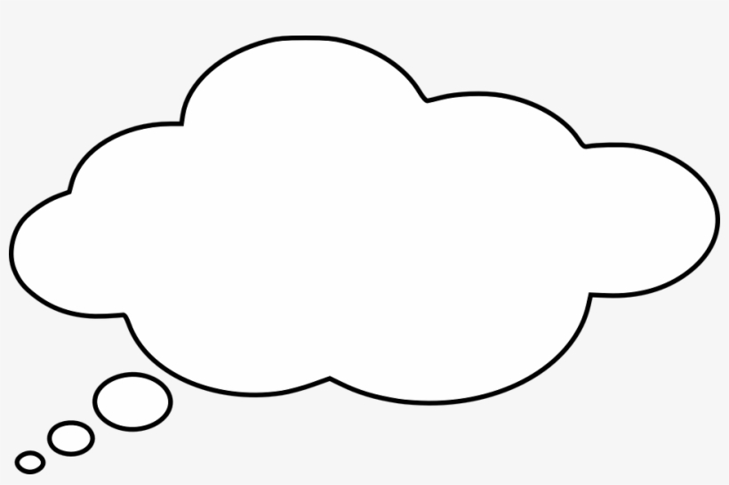Cloud thinking. Thought bubble with black
