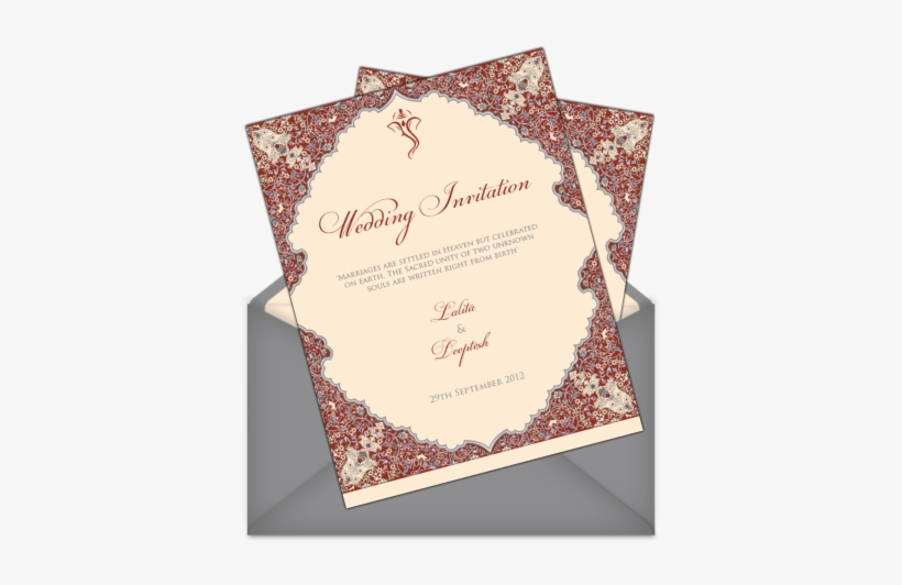 Invitations For Indian Weddings - Wedding Invitations For Indian Weddings, transparent png #250350