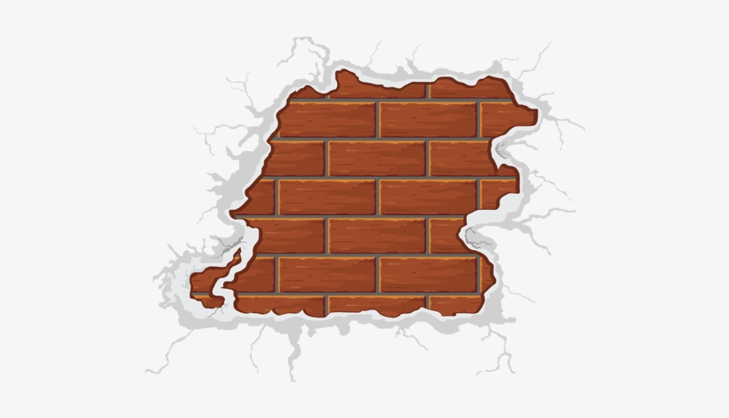 Crack Vector Brick - Cracked Brick Wall Png, transparent png #250784