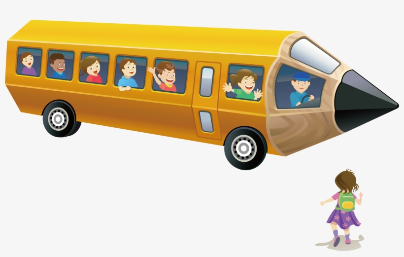 School Pencil Transprent Free Pencil School Bus Drawing Free