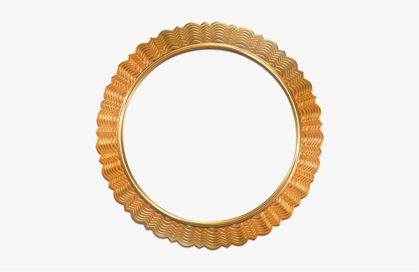 Antique Gold Photo Frame Png Image - Oval Antique Photo Frames, transparent png #252391