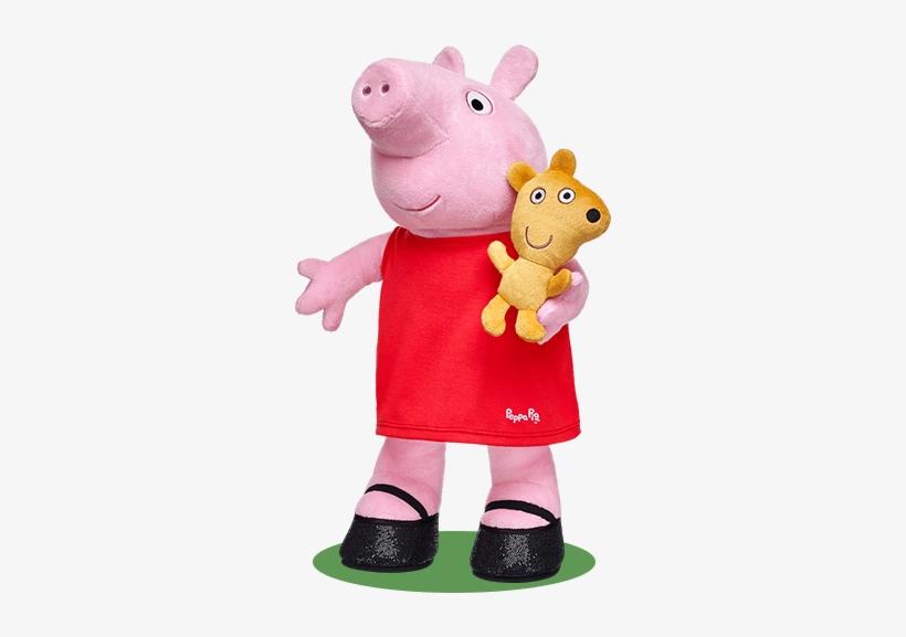 Peppa Pig At Build A Bear Build A Bear, Peppa Pig, - Peppa Pig Stuffed Animal Set, transparent png #252569