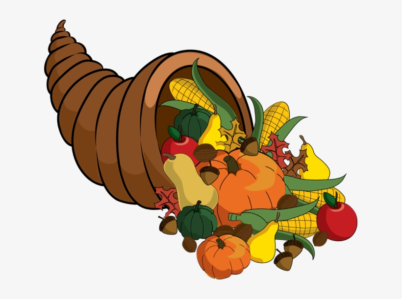 Animated Happy Thanksgiving Clip Art Clipart Image - Thanksgiving Cornucopia Clipart, transparent png #252776