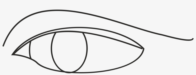 Eye Line Drawing Icons Png - Line Drawing Of An Eye, transparent png #252847
