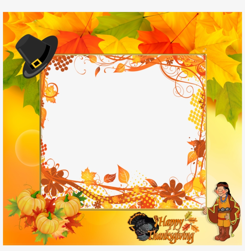 Happy Thanksgiving Frames Clipart Borders And Frames - Happy Thanksgiving Picture Frame, transparent png #252868