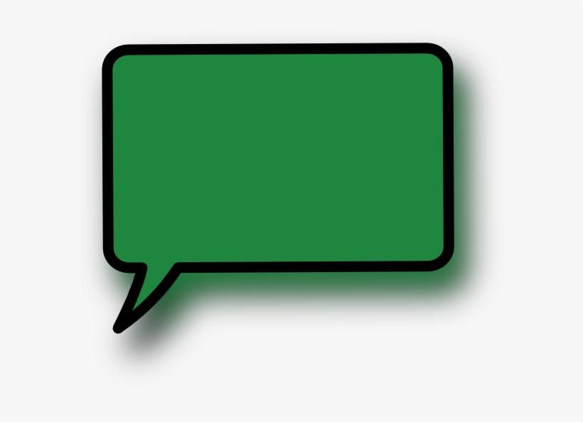 Green Clipart Speech Bubble - Green Speech Bubble Png, transparent png #253078