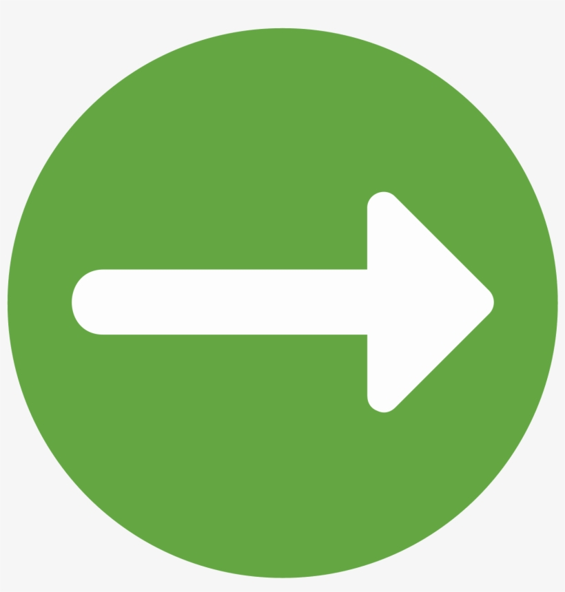 Right Arrow Icon - Green Circle With Arrow Icon, transparent png #254232