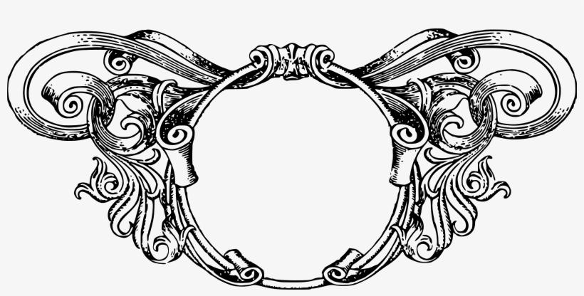 Vintage Ornate Circle Frame - Vintage Borders, transparent png #254470