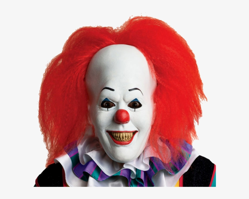 Pennywise The It Clown Horror Mask - Halloween Costumes Clown Scary, transparent png #254603