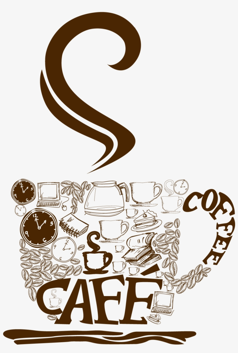 Decorative Coffee Cup Png Vector Clipart - Cup Coffee Png Vector, transparent png #254714