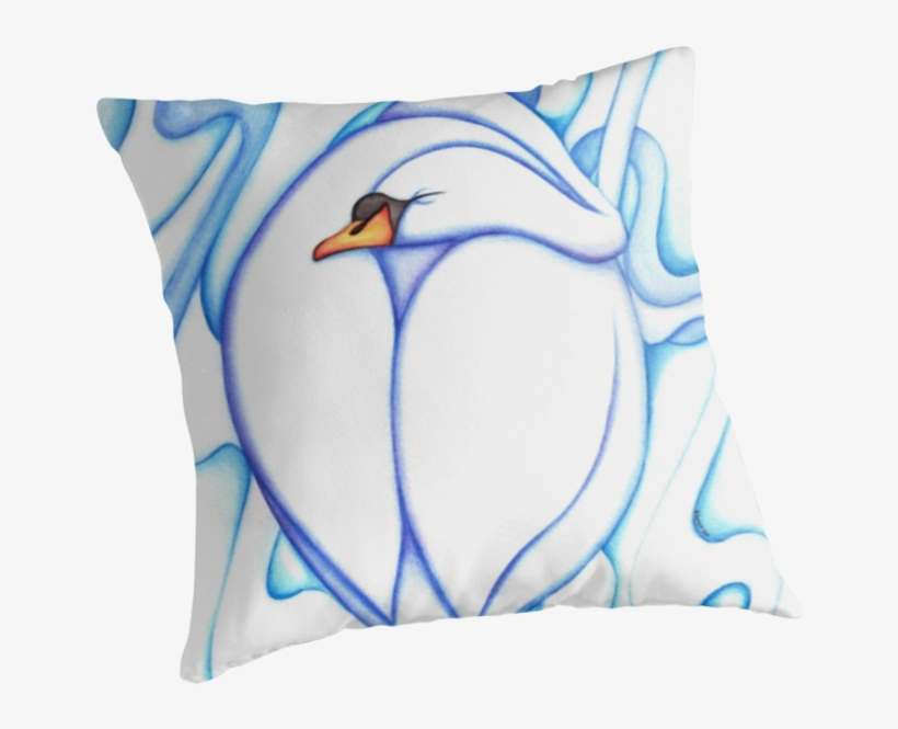 Swan Sleep Abstract Pillow By Anmgoug On Redbubble