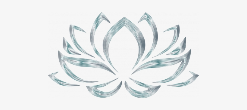 Silver Lotus Flower Symbol For Wallpaper Lotus Flower Transparent