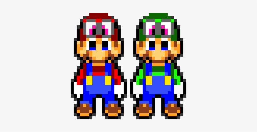 8 Bit Mario And Luigi Sprites On Scratch - Pixel Art Mario