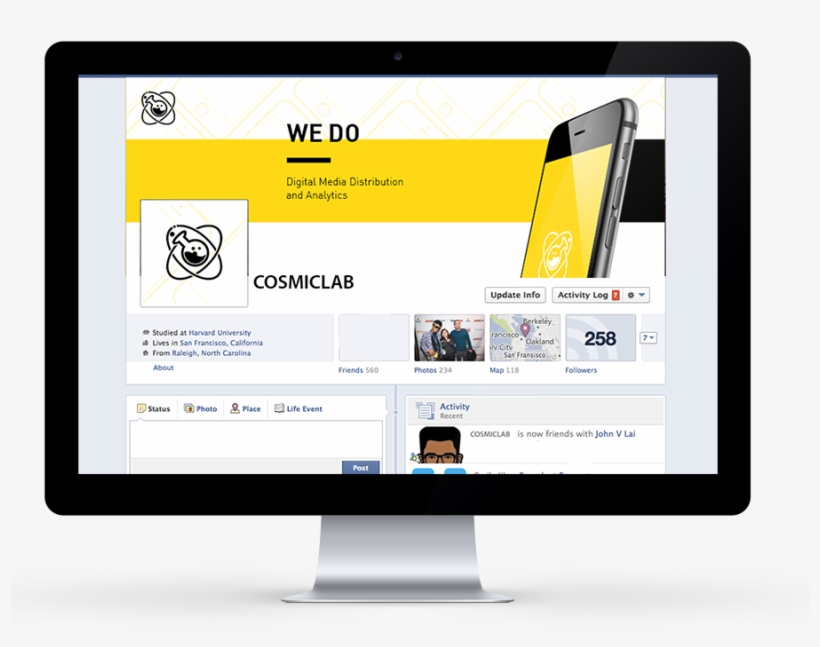 Facebook Cover Design - Capa De Facebook Design, transparent png #258789