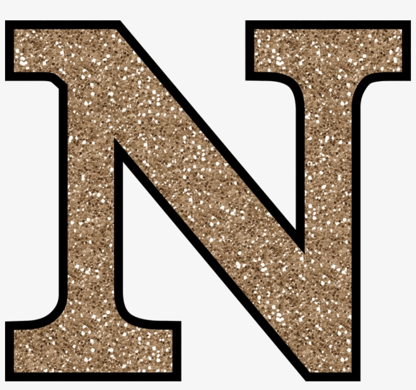 Clipart Resolution 960*854 - Letter N Gold Glitter, transparent png #259715