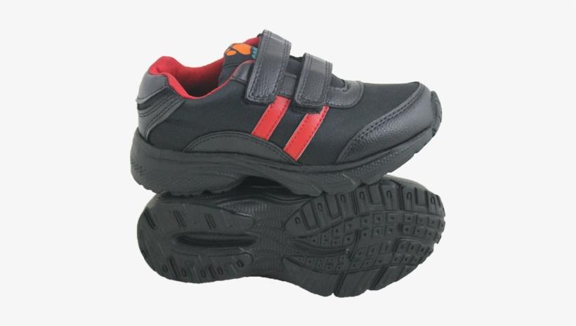 Men Black Gola Velcro School Shoes