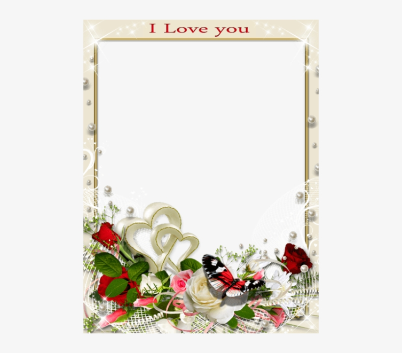 Transparent Romantic Frame Love You Png Photo, Photo - Love Romantic Photo Frame, transparent png #2501597