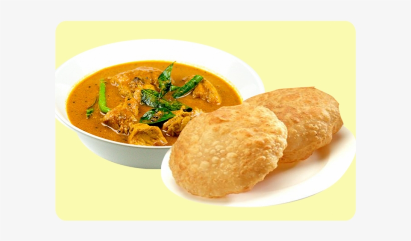 More Views - Poori With Chicken Curry, transparent png #2503400