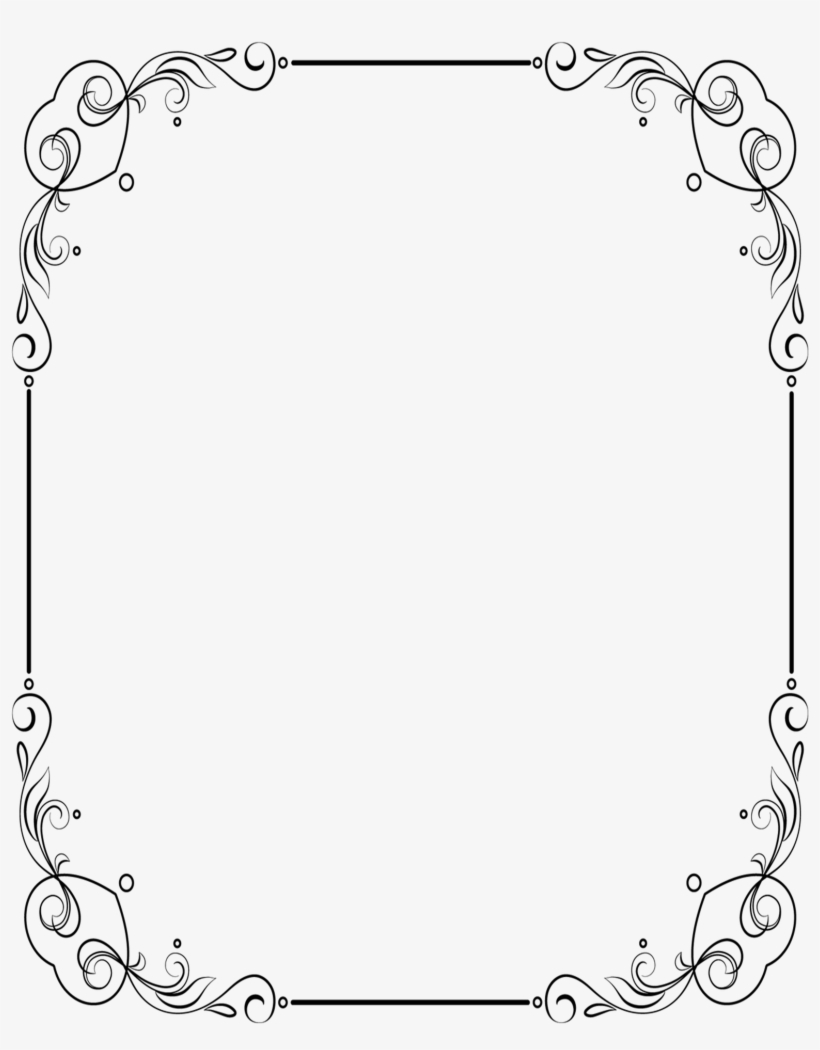 I've Already Re-sized The Frame So It Fit's Perfectly - Microsoft Word Floral Frame Border, transparent png #2505162
