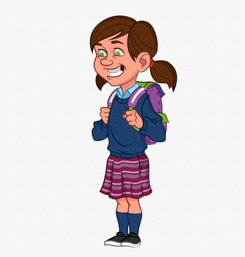 School Girl Clip Art - School Girl Png Clipart, transparent png #2507610