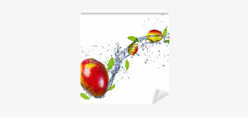 Mangos In Water Splash, Isolated On White Background - Eurographics Glasbild Healthy Kiwi 20 Cm X 20 Cm, transparent png #2509633
