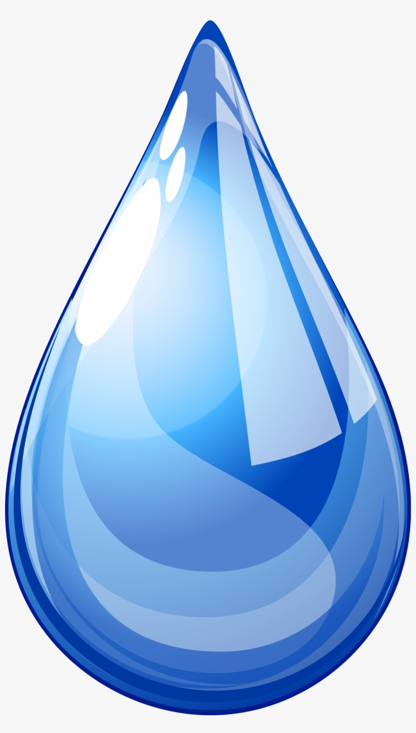 Drops Clipart One Water - Drop Of Water Png, transparent png #2510654