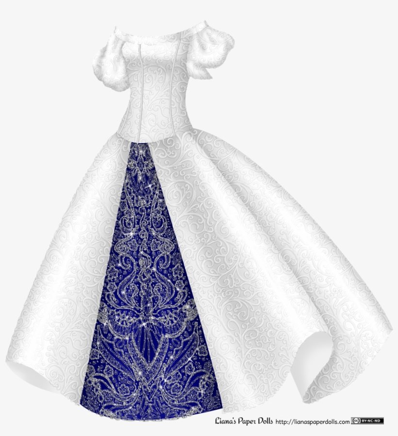 Graphic Transparent Stock Drawing Robes Princess Dress - Silver And White Princess Dress, transparent png #2510840