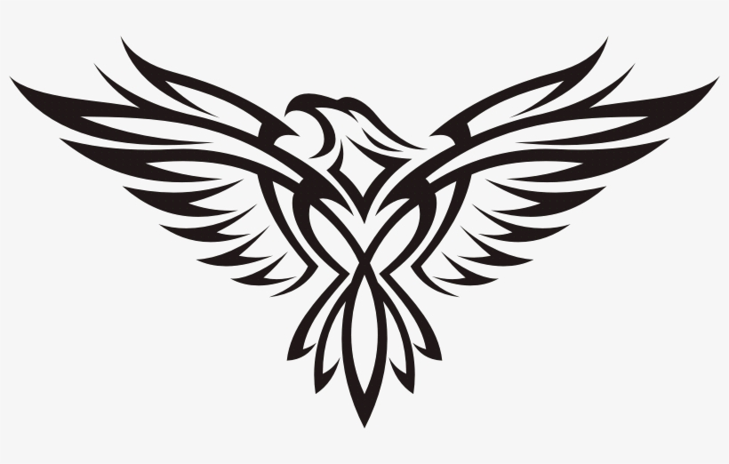Spirit Animal Tattoo Designs - Tribal Flying Eagle Tattoo, transparent png #2511077