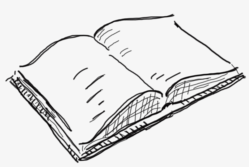 Open Book Drawing Png, transparent png #2513602