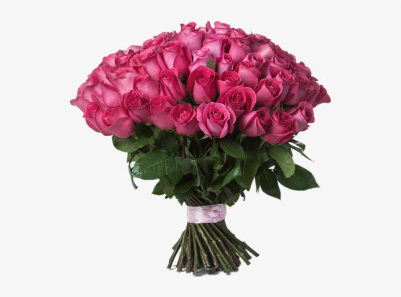 Pink Rose Bouquet - Garden Roses, transparent png #2516514