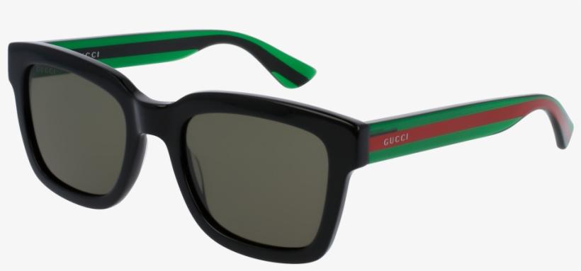 2584b0003648 Gucci Gg0001s-002 Black green 52mm Urban Men Sunglasses - Gucci Sunglasses  Gg0001s