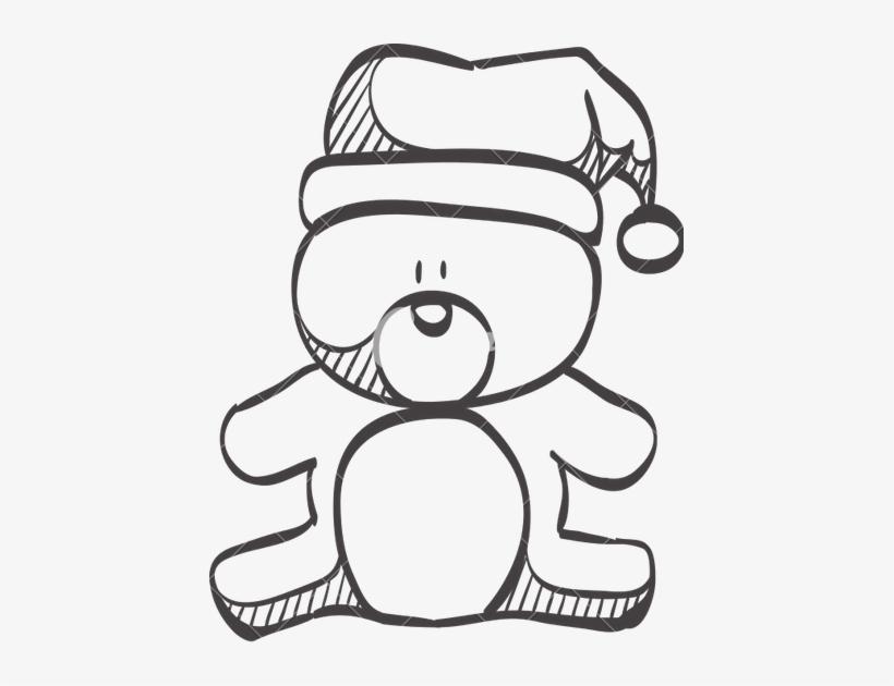 Clip Art Stock At Getdrawings Com Free For Personal - Christmas Teddy Bear Doodle, transparent png #2521547