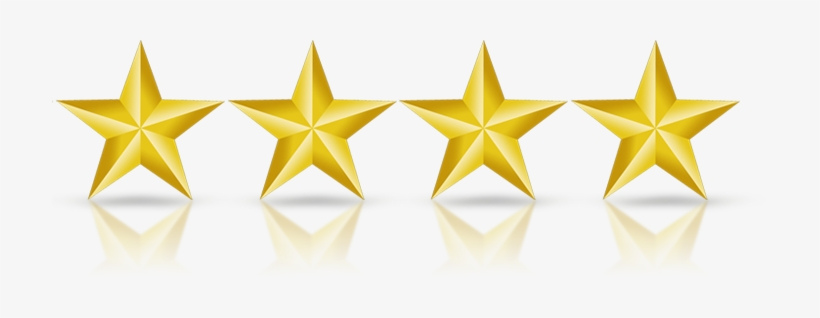 4-star - Stars In A Line - Free Transparent PNG Download - PNGkey