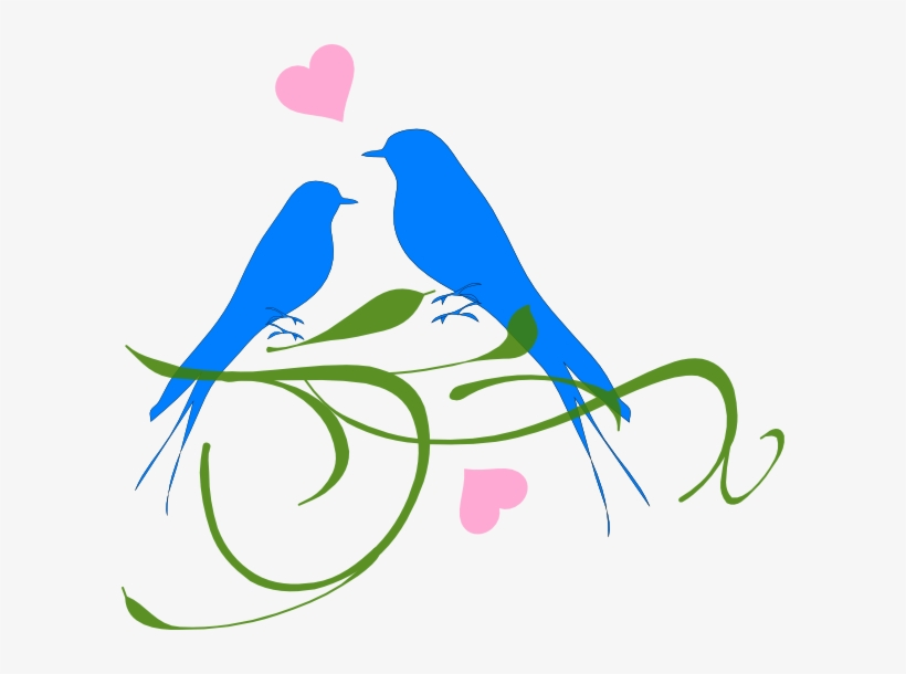 Couple Bird Png - Love Birds Clipart Png, transparent png #2523555