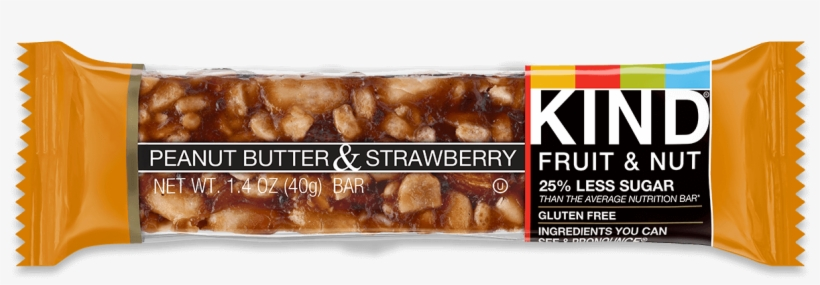 Peanut Butter & Strawberry - Kind Bar Chocolate Peanut Butter Crunch, transparent png #2527792