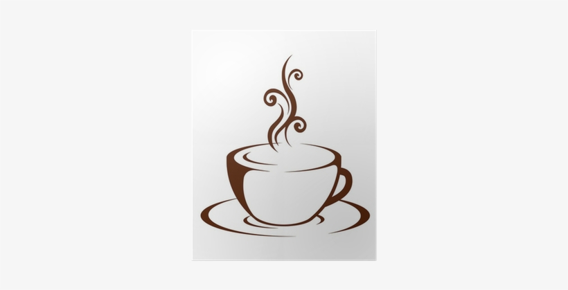 Cup Of Hot Drink (coffee, Tea Etc) Poster • Pixers® - Coffee Mug Cafe Stencils, transparent png #2533052