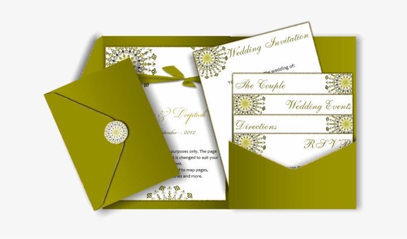 Pocket Style Email Indian Wedding Invitation Card Design - Simple Wedding Invitation Cards Design, transparent png #2540619