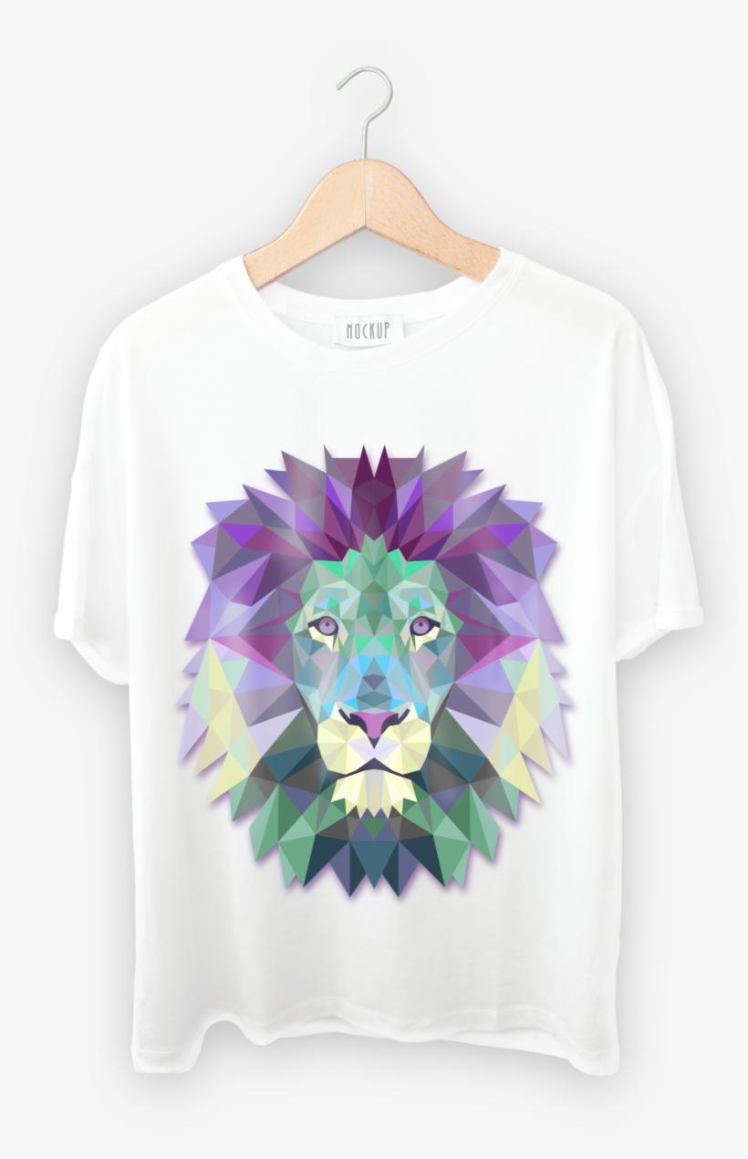 T Shirt Front Loin - Lion Art, transparent png #2542071