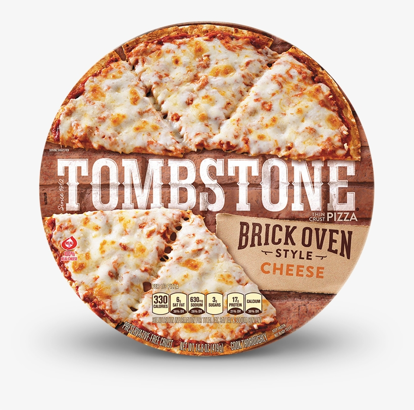 Tombstone Brick Oven Cheese Pizza - Tombstone Brick Oven Style Thin Crust Sausage, transparent png #2542389